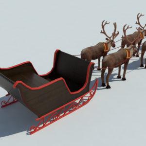 sleigh-reindeer-3d-model-3