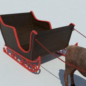 sleigh-reindeer-3d-model-4