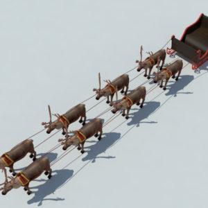 sleigh-reindeer-3d-model-6