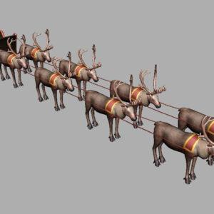 sleigh-reindeer-3d-model-7