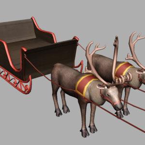 sleigh-reindeer-3d-model-8