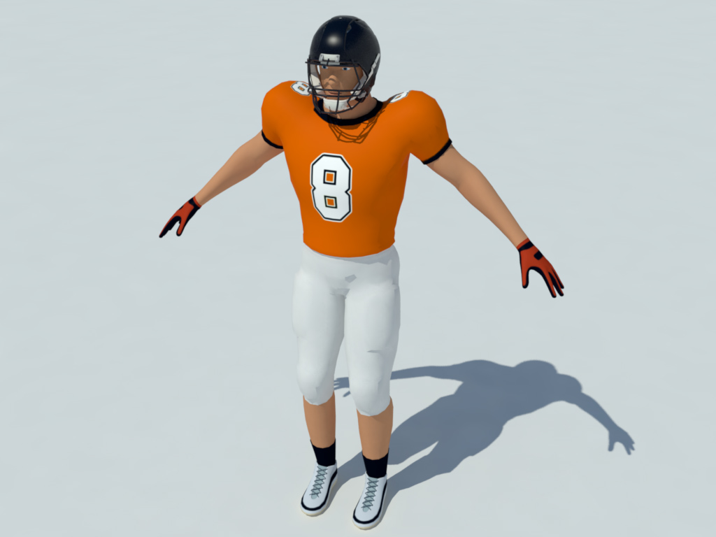football player 3d model free download