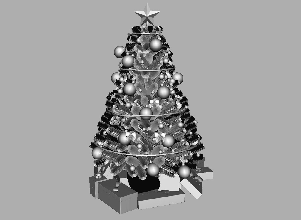 Christmas tree gifts 3d model with decoration 12 3d for 3d model decoration