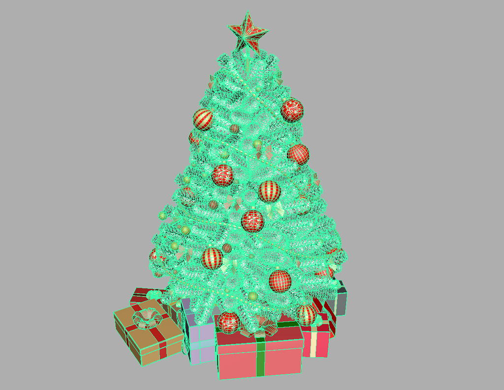 Christmas tree white decoration 3d model 3d models world for 3d decoration games