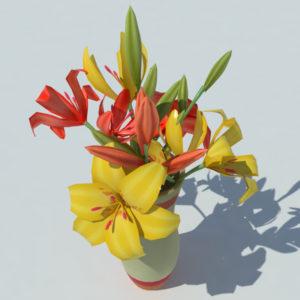 lily-vase-orange-yellow-3d-model-2