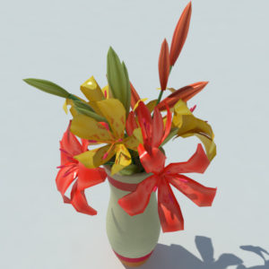 lily-vase-orange-yellow-3d-model-4