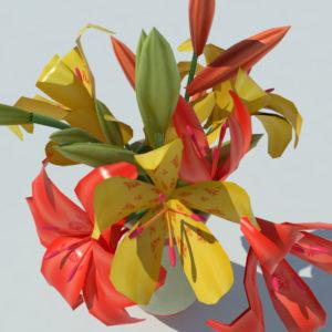 lily-vase-orange-yellow-3d-model-5