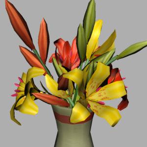 lily-vase-orange-yellow-3d-model-8
