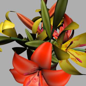 lily-vase-orange-yellow-3d-model-9