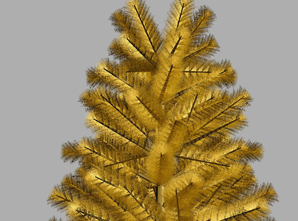 Pine Tree Golden 3D Model