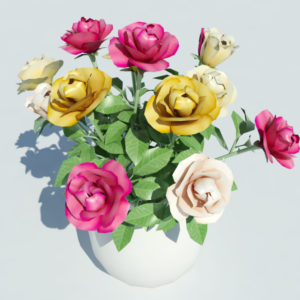 roses-vase-3d-model-multicolored-3