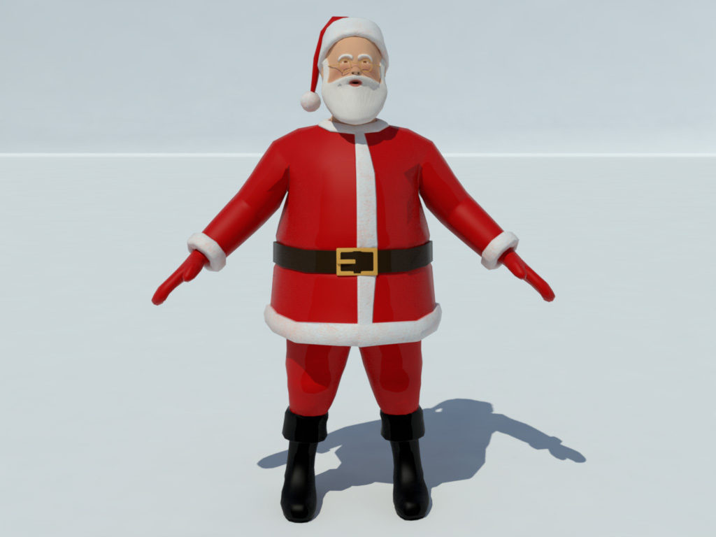 Santa claus 3d model realtime 3d models world for Mobel 3d download
