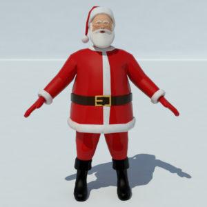 Santa Claus 3D Model – Realtime