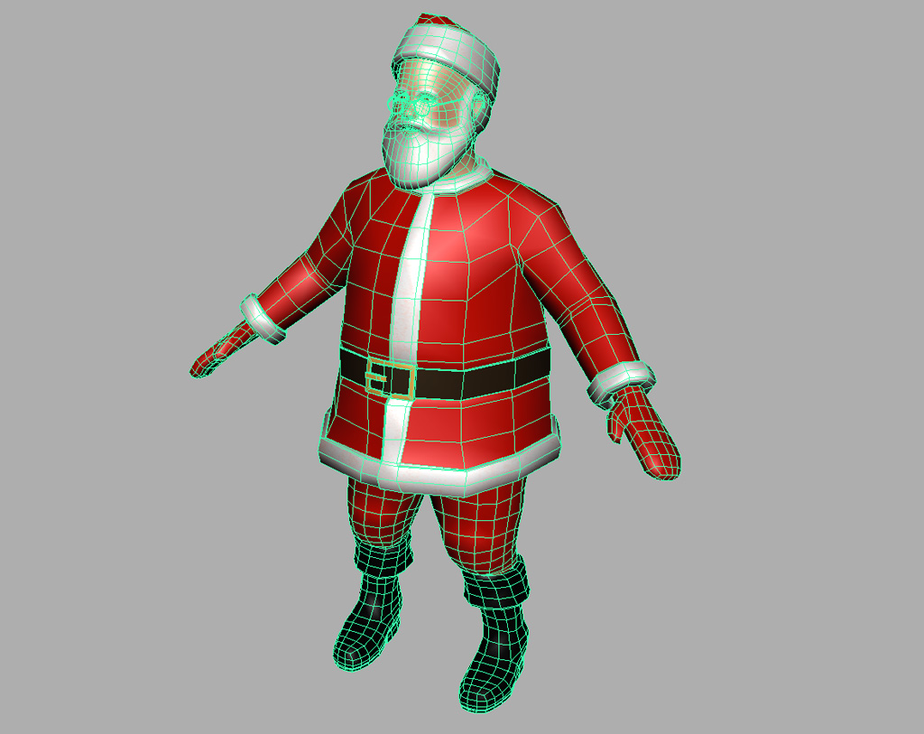 how to make a model of santa claus
