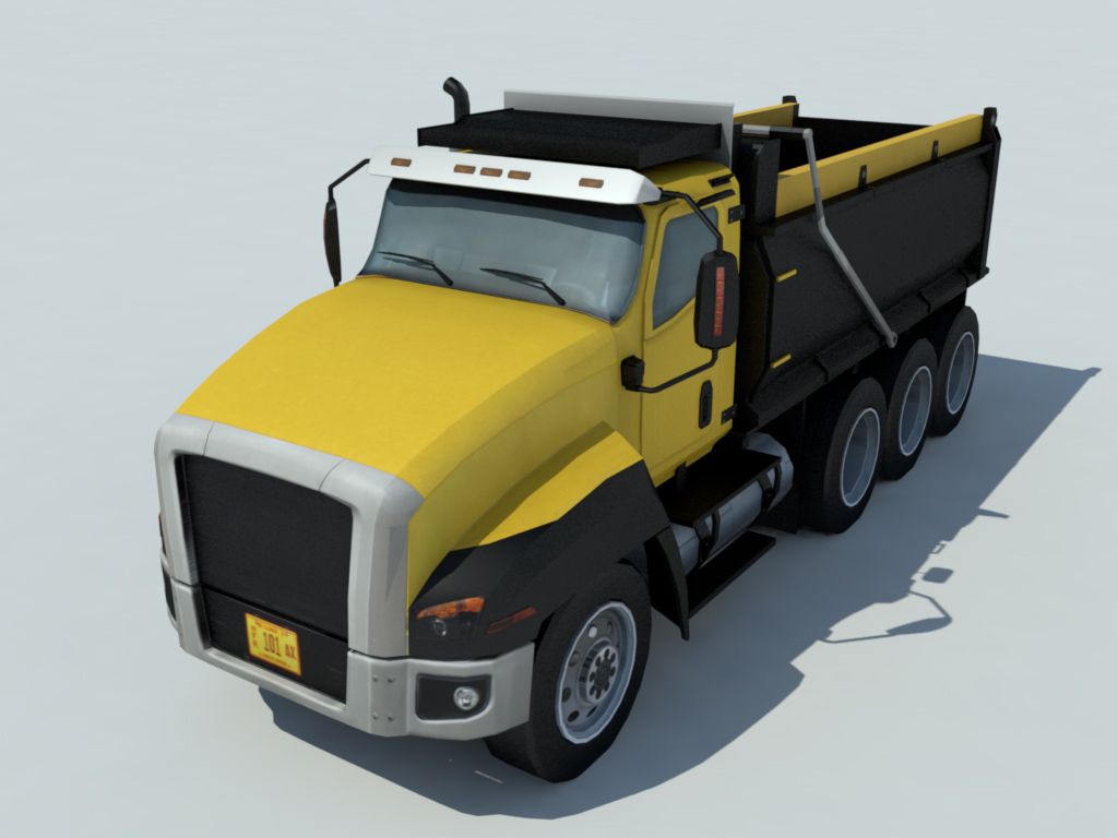 dump truck 3d model realtime 3d models world