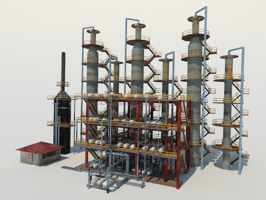 atmospheric-distillation-3d-model-unit-5