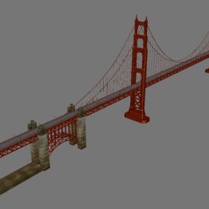 Golden Gate Bridge 3D Model - 3D Models World