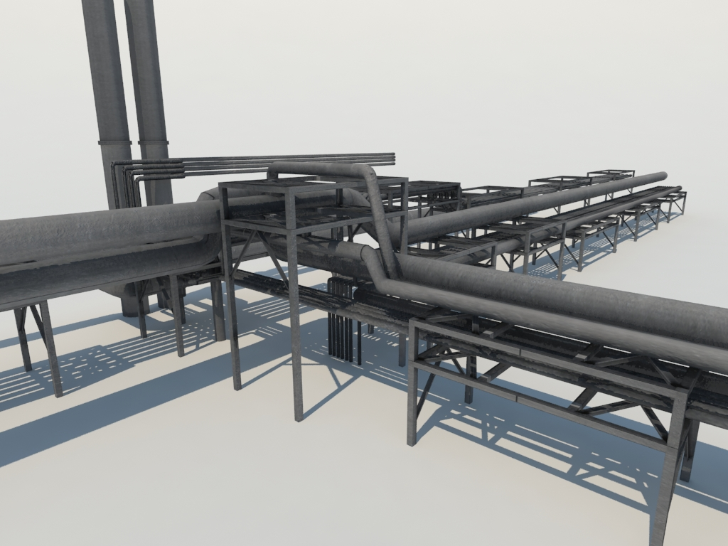 Array - industrial pipes 3d model   3d models world  rh   3dmodelsworld com