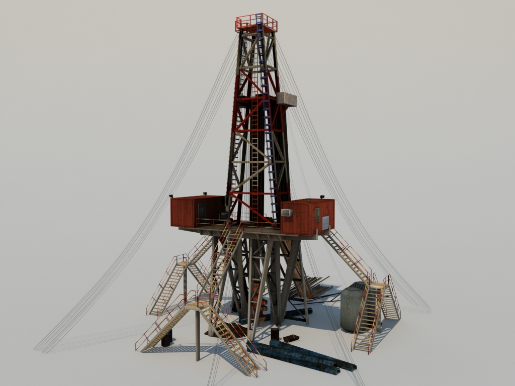 Land Drill Rig 3D Model - Realtime - 3D Models World