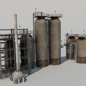 refinery-units-3d-model-2