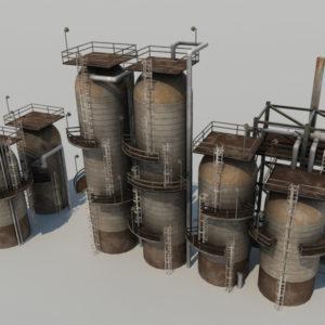 refinery-units-3d-model-3