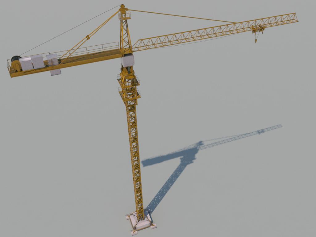 Crane Tower 3D Model - 3D Models World