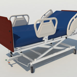 Hospital Bed 3D Model – Realtime