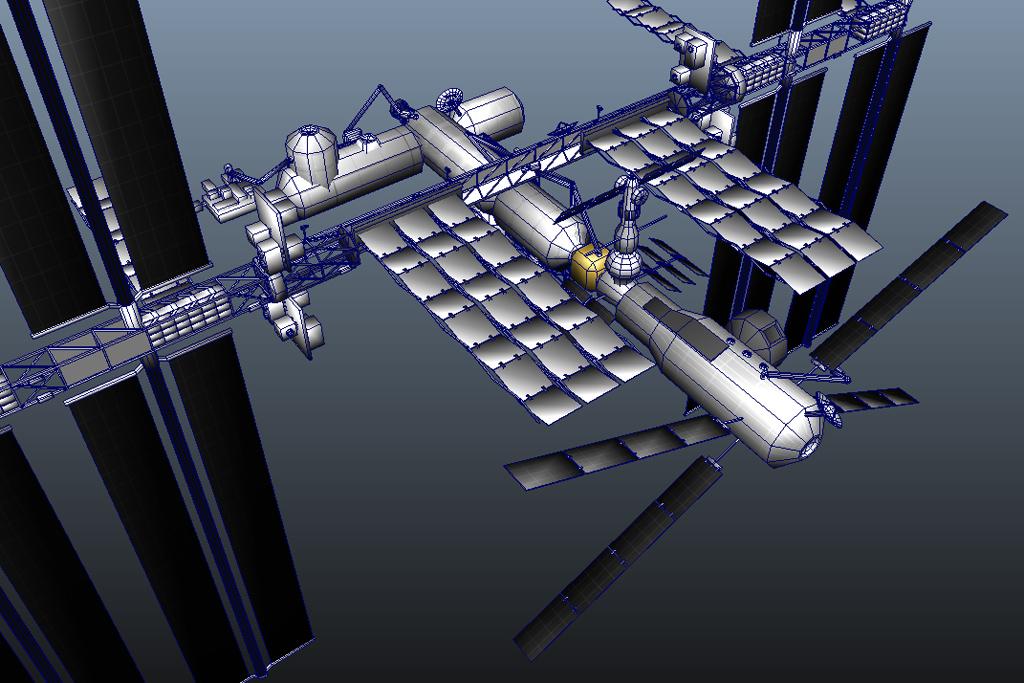 International Space Station 3D Model - Realtime - 3D Models World