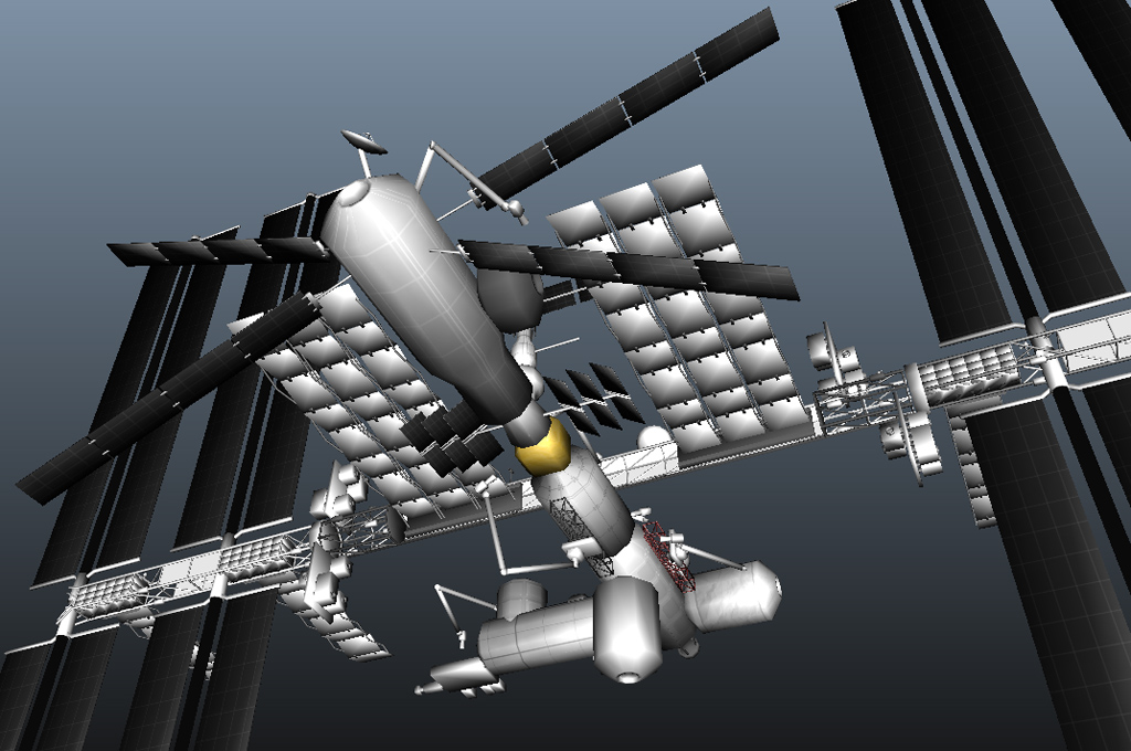 International space station 3d model realtime 3d for Space station 13 3d