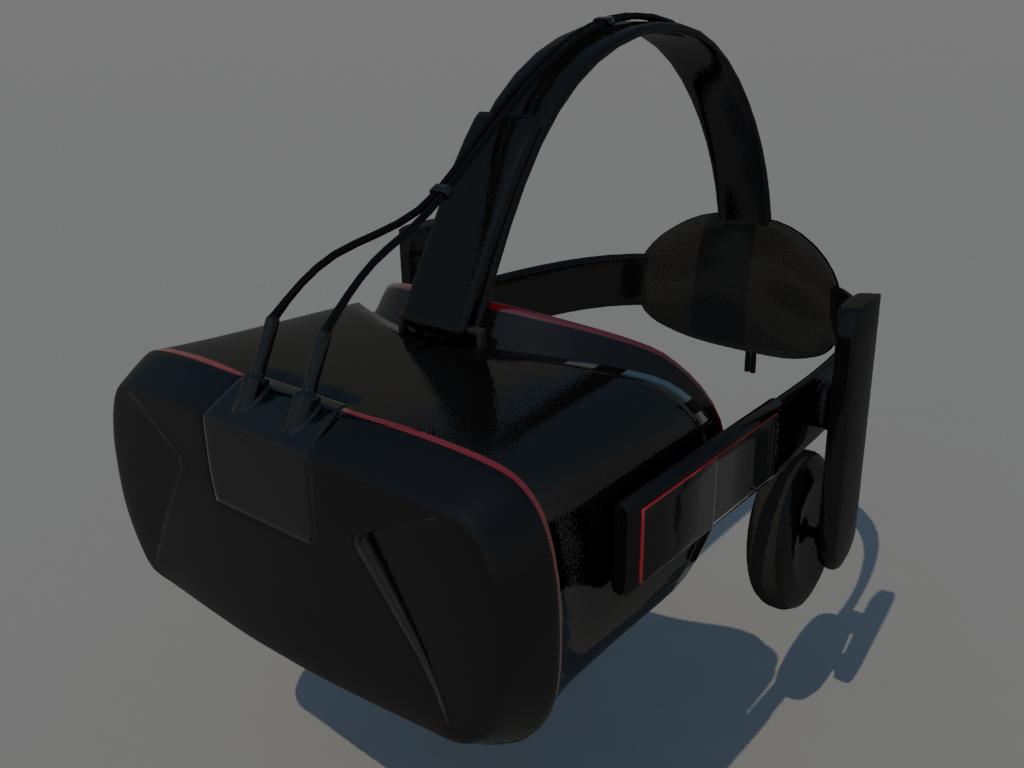 VR Headset 3D Model Black Red - Realtime - 3D Models World