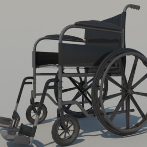 Wheelchair 3D Model – Realtime
