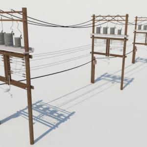 wooden-power-line-distribution-line-voltage-regulators-3d-model-1
