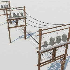 wooden-power-line-distribution-line-voltage-regulators-3d-model-2