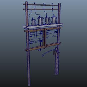 wooden-power-line-distribution-line-voltage-regulators-3d-model-7
