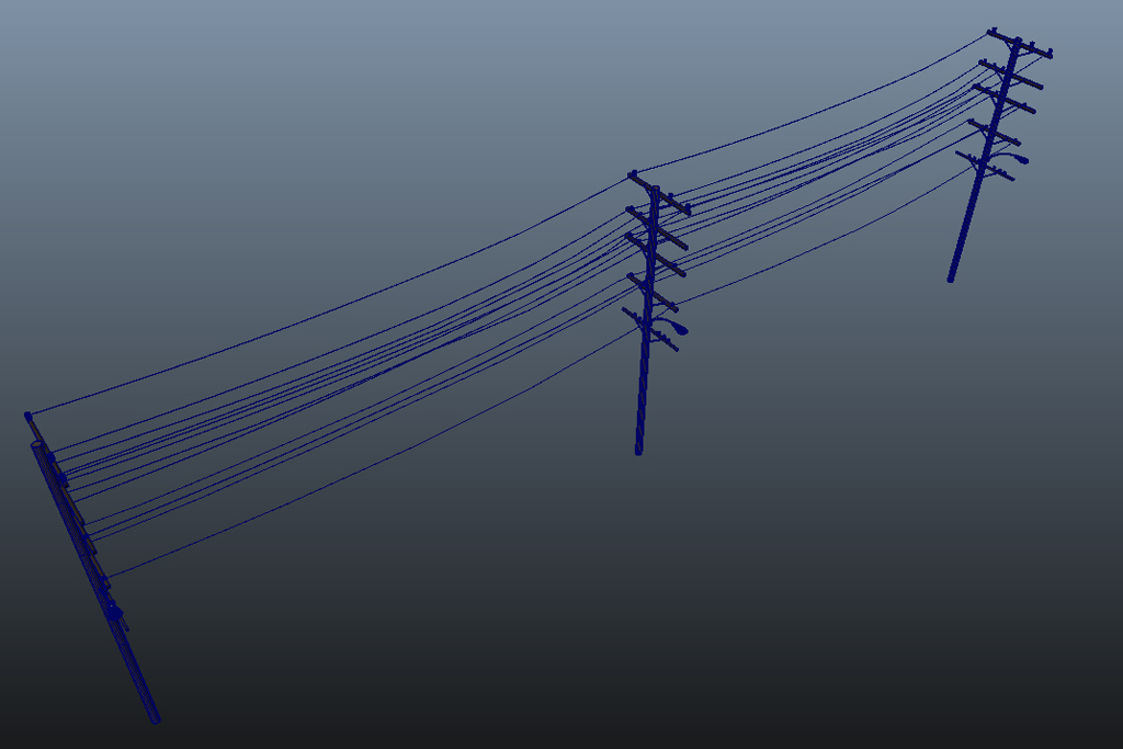 Wooden Utility Pole 3D Model - 3D Models World