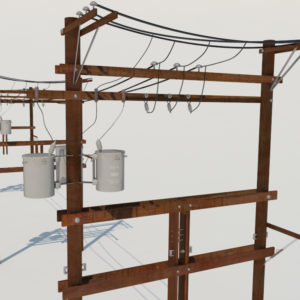power-line-distribution-line-voltage-regulators-3d-model-1