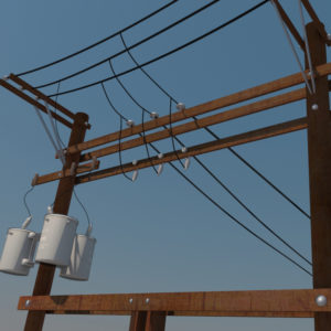 power-line-distribution-line-voltage-regulators-3d-model-3