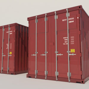 shipping-cargo-containers-red-3d-model-3