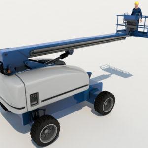 Boom Lift 3D Model – Realtime