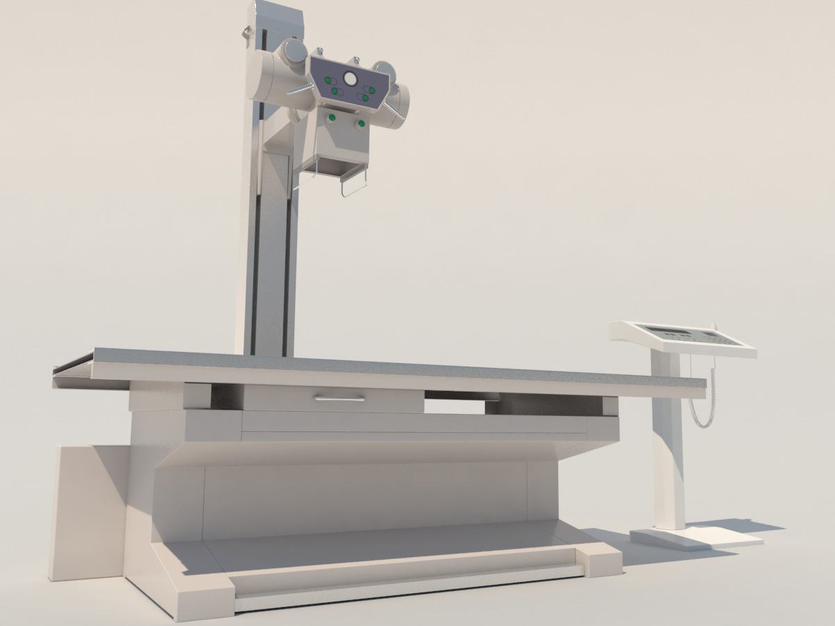 High Frequency Radiography X-Ray Machine 3D Model - 3D Models World