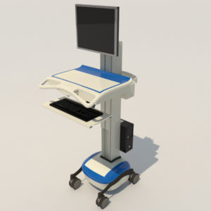 Medical Mobile Computer Cart 3D Model – Realtime