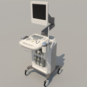 Ultrasound Machine 3D Model – Realtime