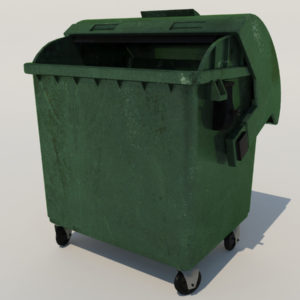 Outdoor Mobile Garbage Bin 3D Model – Realtime