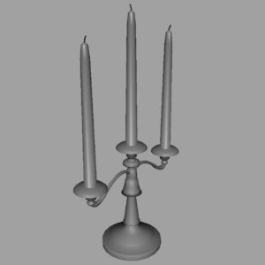 antique-triple-candle-candelabra-3d-model-10