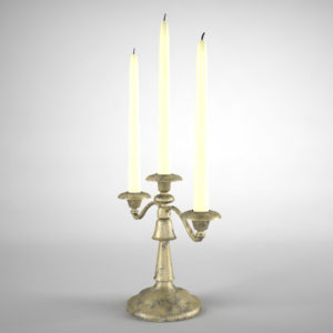 antique-triple-candle-candelabra-3d-model-2
