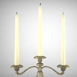 antique-triple-candle-candelabra-3d-model-4