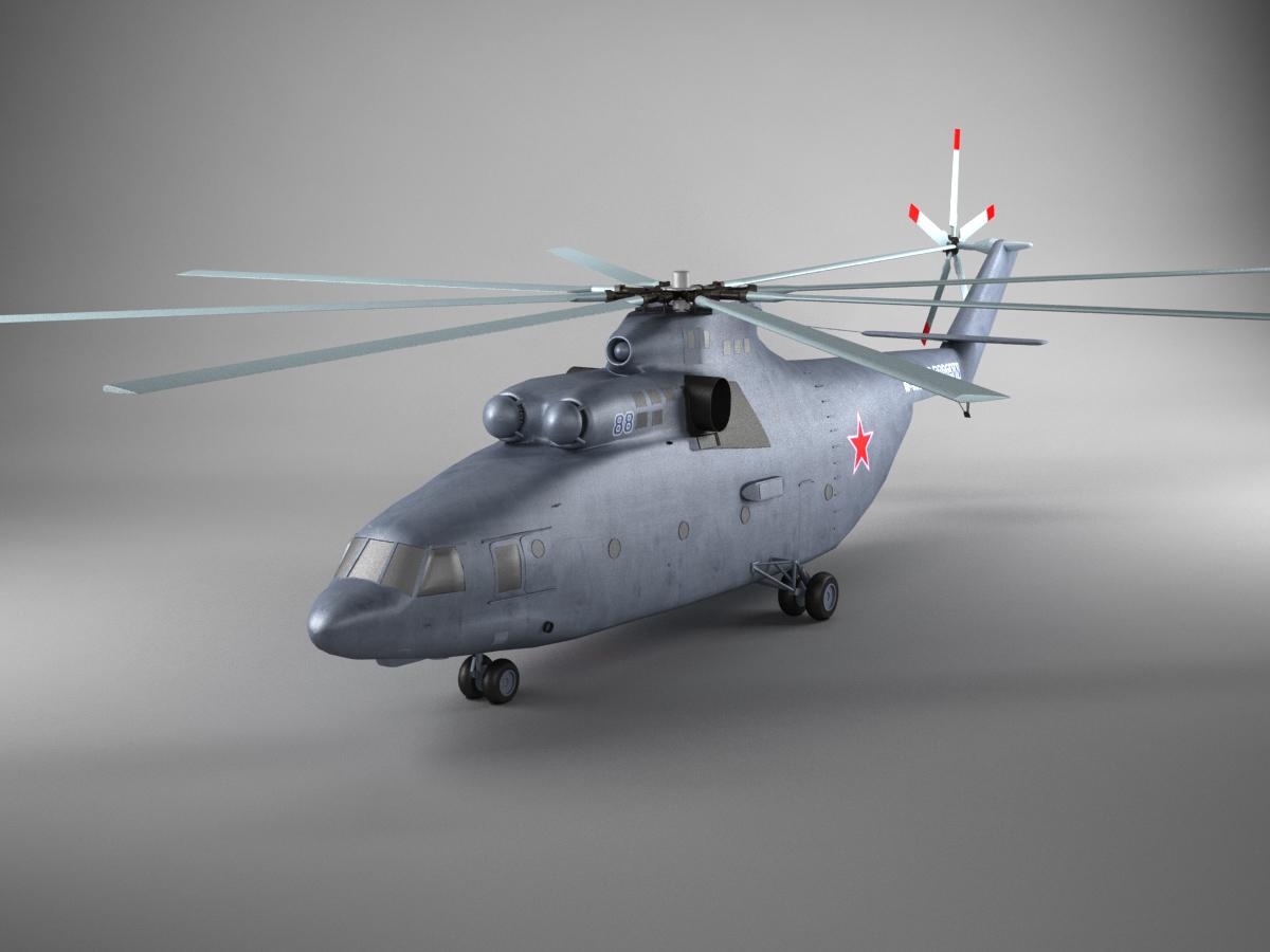 mil mi 26 helicopter 3d model 3d models world. Black Bedroom Furniture Sets. Home Design Ideas