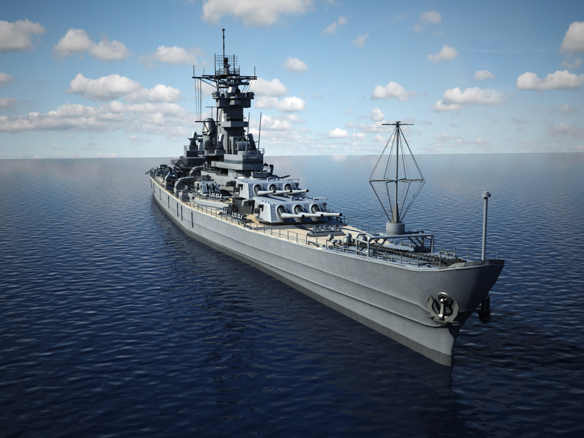 USS Iowa BB 61 Class 3D Model Battleship - 3D Models World