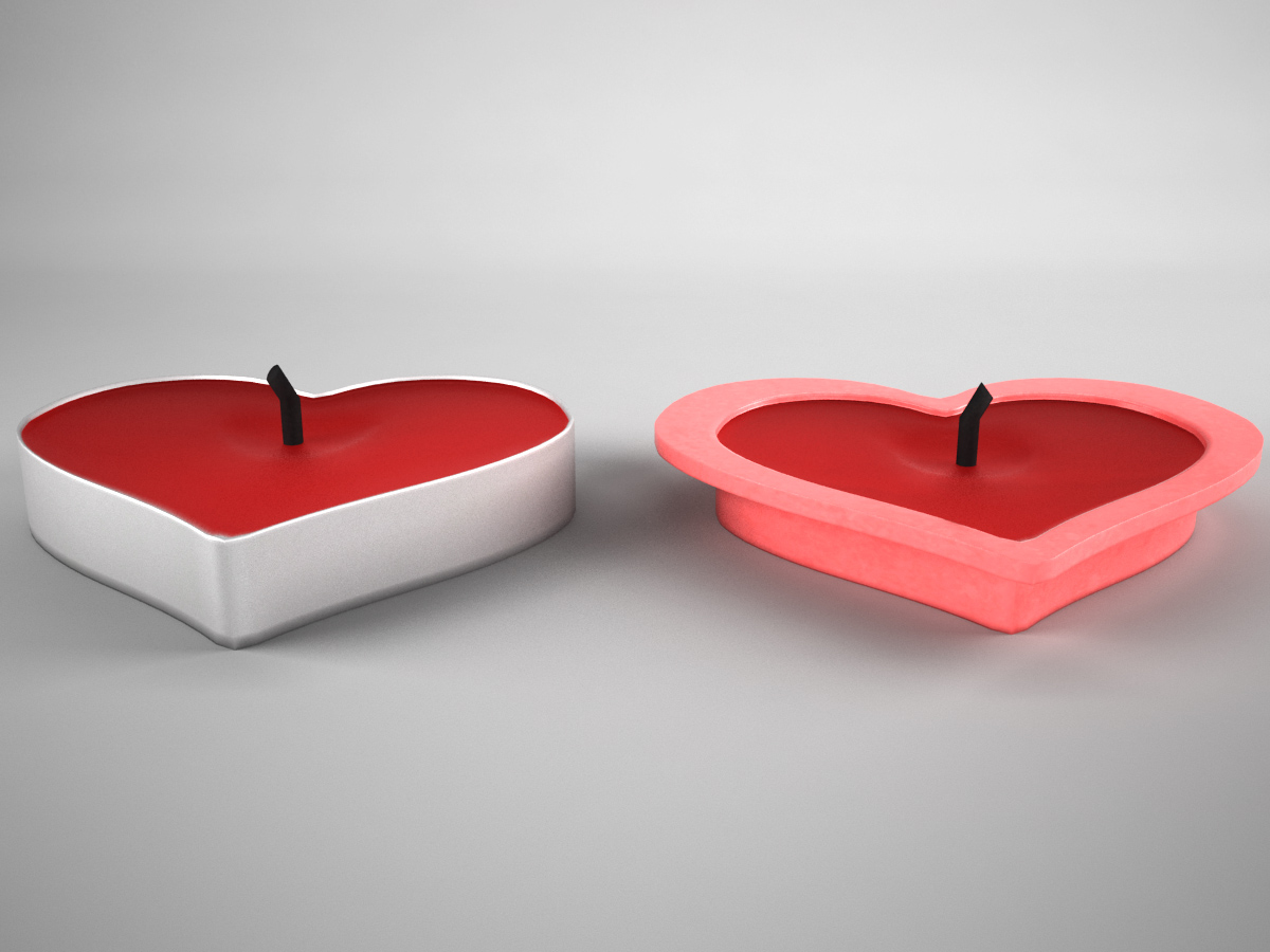 Valentine Heart Candle 3D Model - 3D Models World