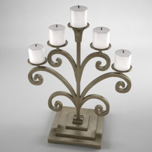 antique-candle-holder-metal-3d-model-3